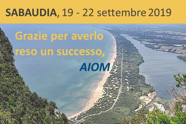 AIOM - Open Meeting,  Sabaudia 19-22 settembre 2019